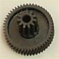 Шестерня мясорубки Moulinex, малая чёрная, MS-4775533, D=30,7,d=11,7,H=24,1,h=10, 11 зубцов, 51 зубец