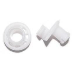 Колесо (ролик) корзины ПММ Bosch 066321, 424717 (комплект 2шт)