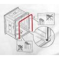 Уплотнитель двери посудомоечной машины Bosch Siemens 263096, П-образный, длина 1850 мм