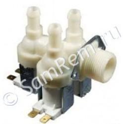 КЭН (наливной электромагнитный клапан) стиральной машины D=12mm (3 выхода под 90 градусов по отношению ко входу) 3-90
