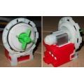 Насос ( помпа ) стиральной машины Bosch 8 защелок, высокий вынос, клеммы назад под фишку COPRECI 82001307