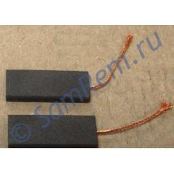 Щетки для электродвигателя стиральной машины 5х13,5х36 провод от центра (N52A) ИТАЛИЯ сэндвич комплект 2 штуки