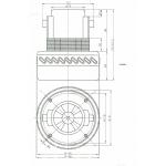 Двигатель пылесоса, моющий, универсальный, 1400W, H167мм, VCM-09-1.4, КИТАЙ