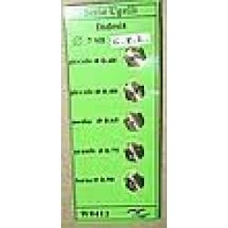 Набор жиклёров Indesit на балонный газ WO412 (0,40;0,55;0,65;0,75;0,90)